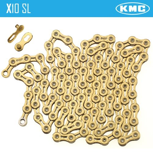 - KMC X10SL Gold 10 Speed Chain for Shimano Sram