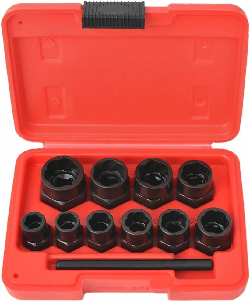 vidaXL Juego de Extractor de Pernos y Tuercas Dañadas 11 Piezas Acero Set Kit