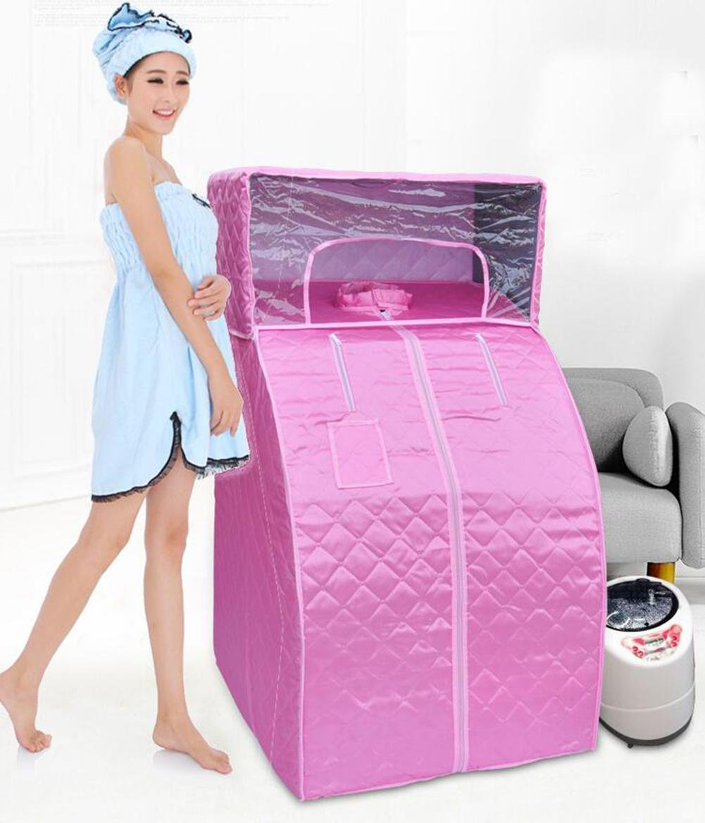 Portable Personal Treatment Steam Sauna SPA Slimming Detoxies Weight Loss Family Indoor , Orange YHKQS-KQS