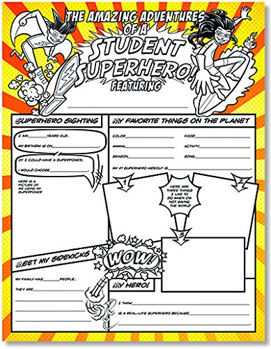 Northstar Teacher Resources Fill Me In Student Superhero About Me Classroom Poster