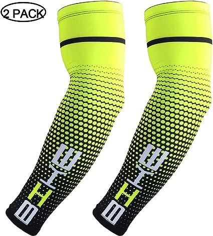 Youth Sports Football Baseball Softball 2 Pair, 4 PCS HDE Arm Compression Sleeves for Kids Basketball Shooting Sleeve