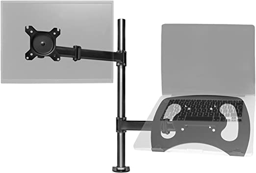 Dual Monitor Mount Desk Stand Adjustable Arm Tilt Swivel Rotate VESA Bracket US