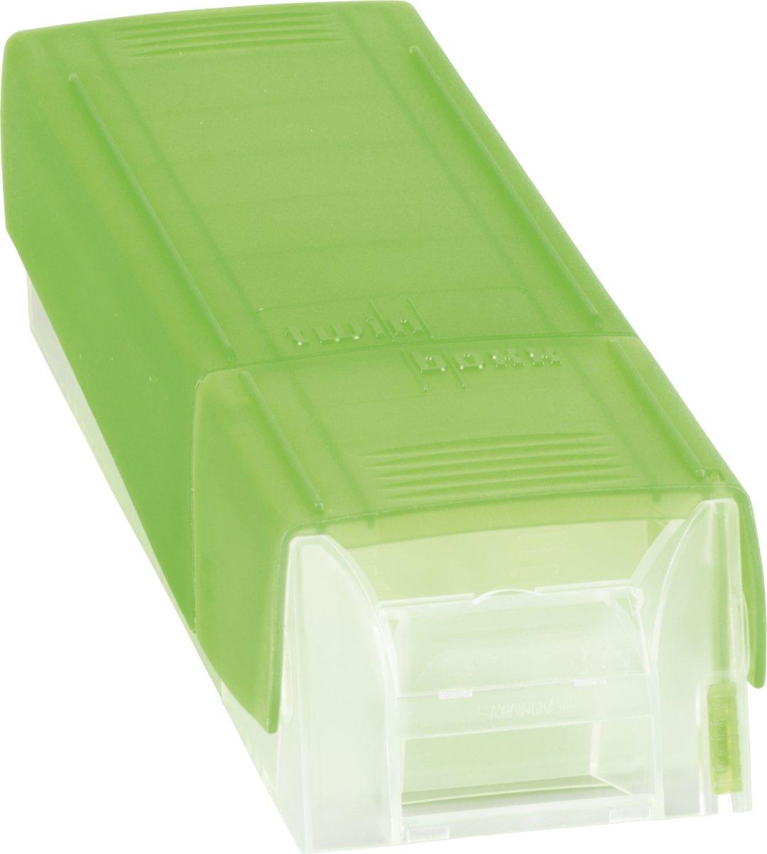 Brunnen Twinboxx Styrolux verde Schedario per circa 600 biglietti formato A8
