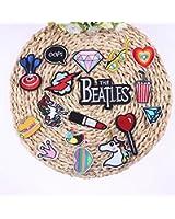 Patch Sticker 17 Stück Aufnäher Kleidung Patch Einhorn Lippenstift Diamand Herz Beatles und mehr