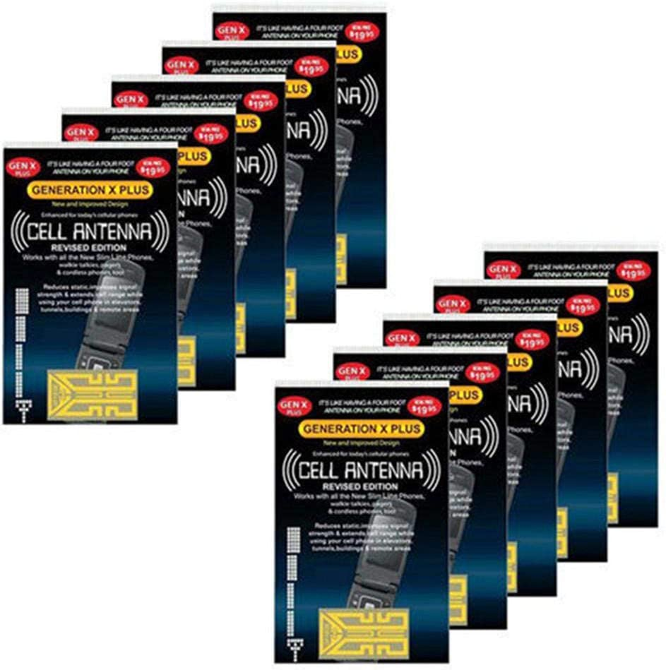 10 Pieces of Mobile Phone Signal Enhancement Stickers Like Having a 4 Foot Antenna on Your Cell Phone Works on Any Analog and Tri-Band Phones Digital