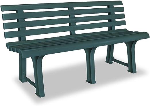 SHENGFENG Banco de Jardín Verde, Plástico, Banco para Sentarse ...