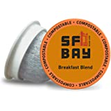 SF Bay Coffee Breakfast Blend 80 Ct Medium Roast Compostable Coffee Pods, K Cup Compatible including Keurig 2.0…