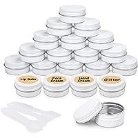20 Piezas Tarros de Aluminio vacío Recipiente