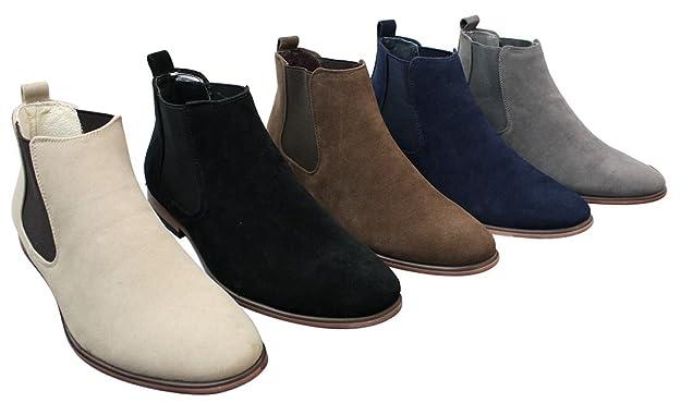 Bottines Chelsea homme simili daim sans lacets design italien style mi-chevilles  chic décontracté: Amazon.fr: Chaussures et Sacs
