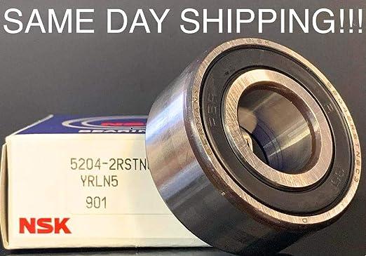 10 Packs 5204-2RS C3 PremiumDouble Row Angular Contact Ball Bearing 20mmX47mmX20.6mm