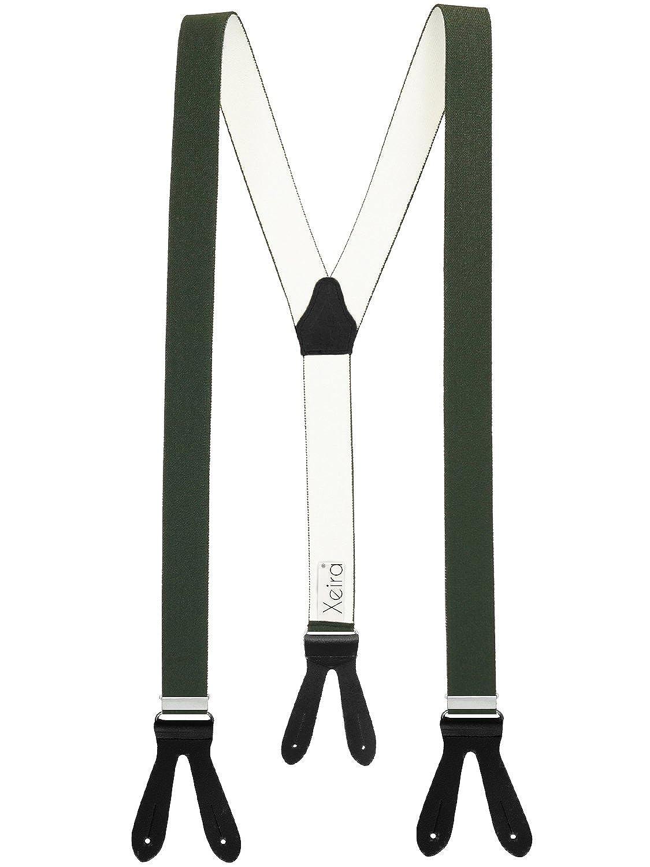 Xeira Bretelle a forma di Y uomo e donna con cinturini in pelle realizzati in vera pelle - Made in Germany