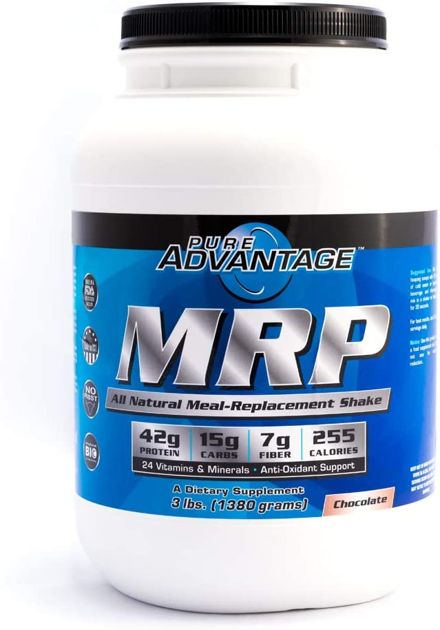 Pure Advantage MRP All Natural Meal Replacement Shake Powder, Chocolate, 3 Pounds