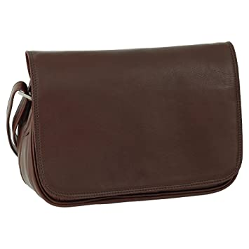 2b5d80000dc32 Leder Damen Umhängetasche Schultertasche Festivaltasche Handtasche Tasche  28 cm Farbe braun