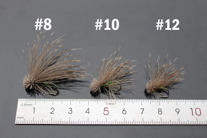 Tigofly 12/PCS 8/# 10/# 12/# ELK Hair Caddis Fliegenfischen Forelle Halsabschneider-/äschen Lachs Fliegen Fly Fliegen Kunstk/öder
