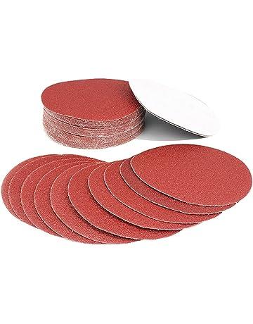 Discos Velcro de Papel de lija, Granulación de 40, 60, 80, 100