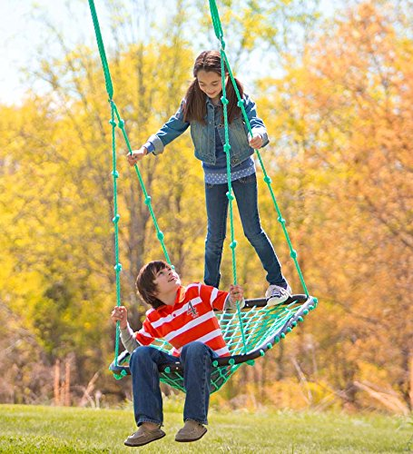Deluxe Platform Hanging Tree Swing For Yard Or Playground