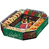 Amscan Football Frenzy Birthday Party Snack Stadium Tableware, Paper, 4'' x 19'' x 25'' Supplies (6), 6 Pieces