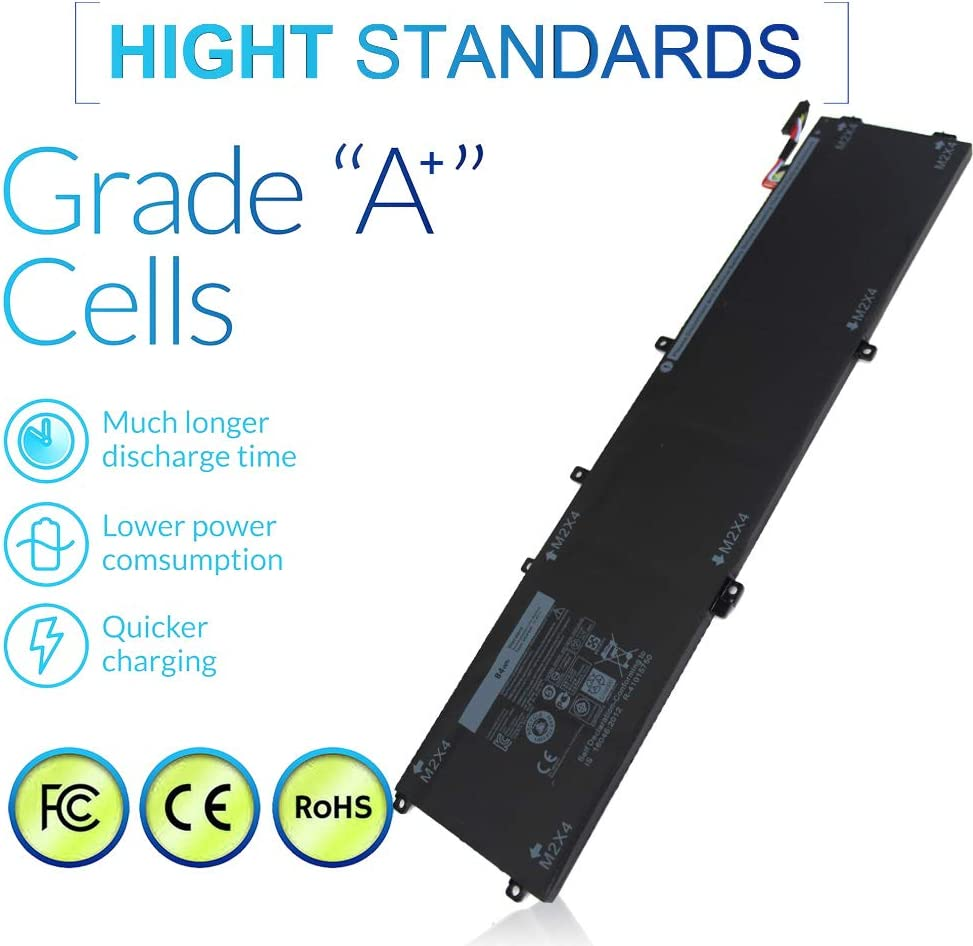 84Wh 4GVGH Laptop Battery Compatible with Dell XPS 15 9550 P56F P56F001 Dell Precision 5510 Mobile Workstation Series Replacement 1P6KD T453X 0T453 062MJV M7R96 451-BBUX 6Cell 7260mAh 11.4V