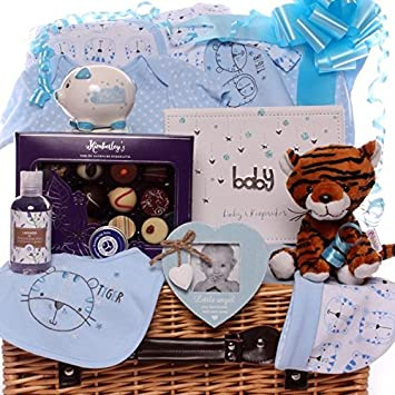83e00a4acbd16 Baby boy Hamper, Large Luxury Hamper Gift, Baby boy Tiger Theme ...