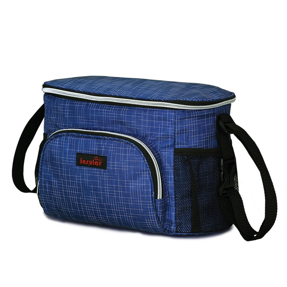 Fumee Diaper Bag,Stroller Organizer Bag, Extra-Large Storage Space for Organize Changing Mat,Diapers,Wipes Pouch, IPhones, Wallets, Books, Toys, Fits All Strollers (Dark blue)