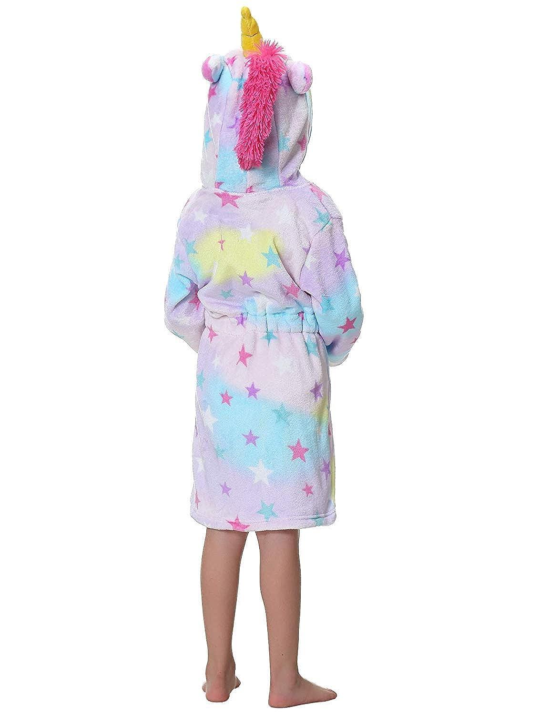 Toddler Hooded Robe Soft Plush Robes for Girls Girls Nightgown Fun Unicorn Robe THE SUNNY FACTORY Unicorn Girls Bathrobe