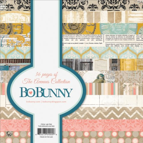 Bo Bunny 14817905 The Avenues 36-Sheet Paper Pad, 6 by 6-Inch, Single-Sided - Scrapbook Bunny Bo