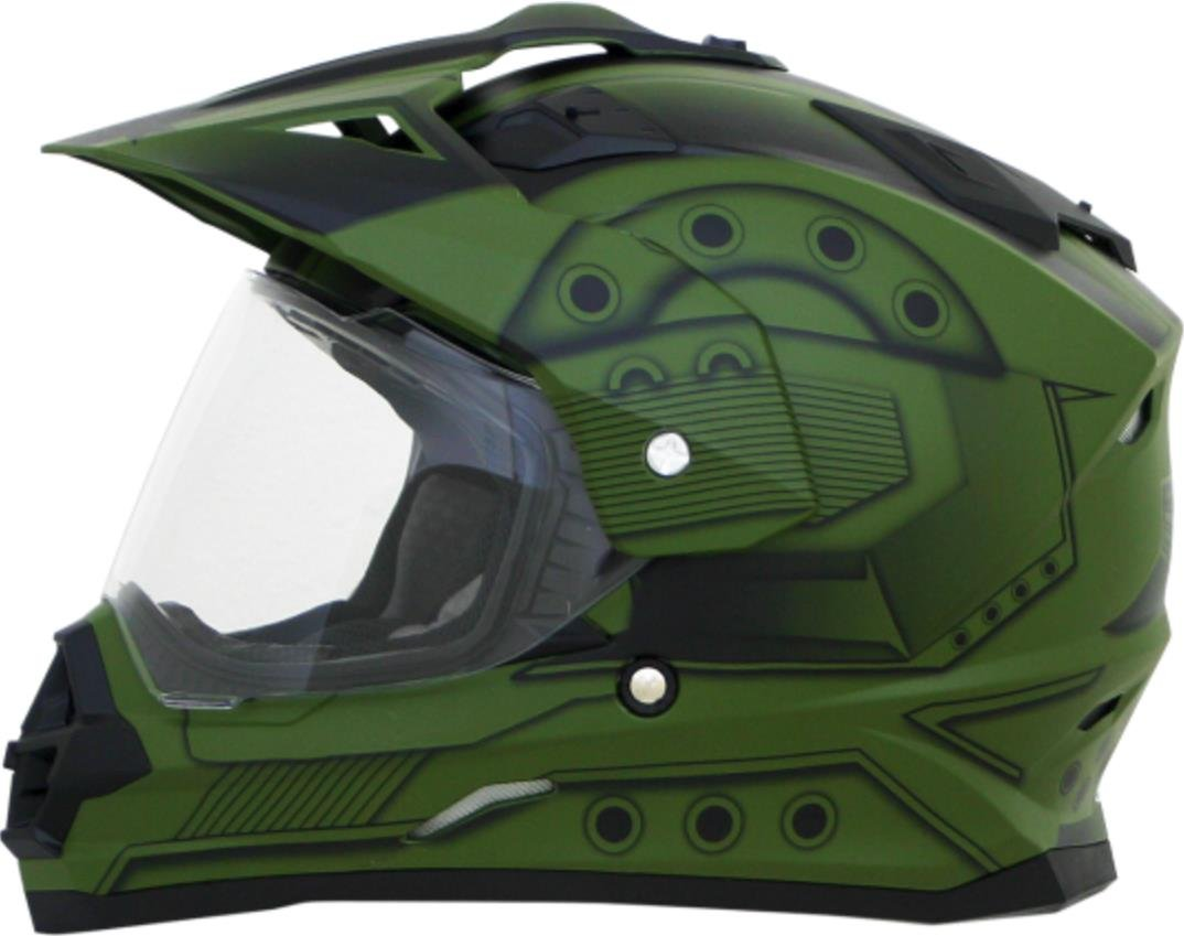 AFX FX-39DS Hero Dual Sport Helmet - Green - Large
