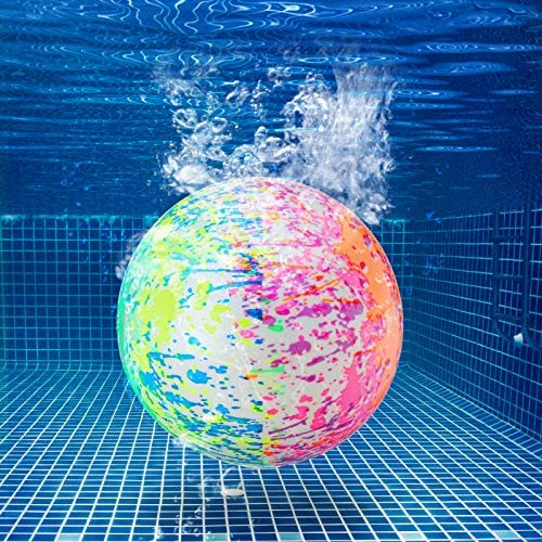 Hiboom Swimming Pool Toys Ball, Underwater Game Swimming Accessories Pool Ball for Under Water Passing, Dribbling, Diving and Pool Games for Teens, Adults, Ball Fills with Water (Water Color)