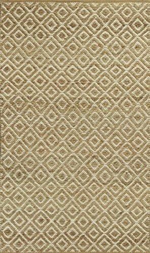 KAS Oriental Rugs Izteca Collection Diamonds Area Rug, 8' x 10', Sand