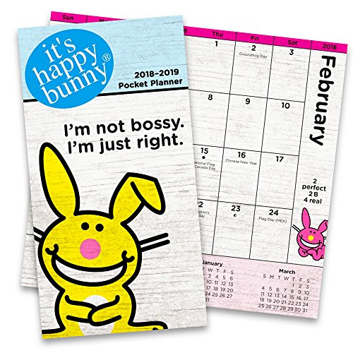 It's Happy Bunny Monthly Pocket Planner 2018-2019 (Two-Year It's Happy Bunny Planner Calendar 2018 2019)