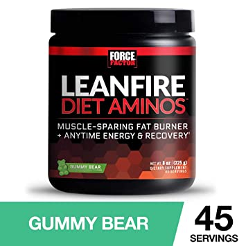 Force Factor LeanFire Diet Aminos Fat Burner with Anytime Energy and Added  Lean Muscle-Sparing