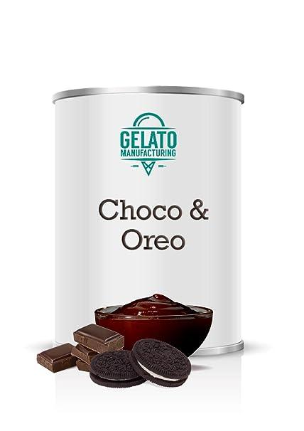 Choco Oreo - Crema espatulable de chocolate negro con trozos de galleta ideal para vetear y