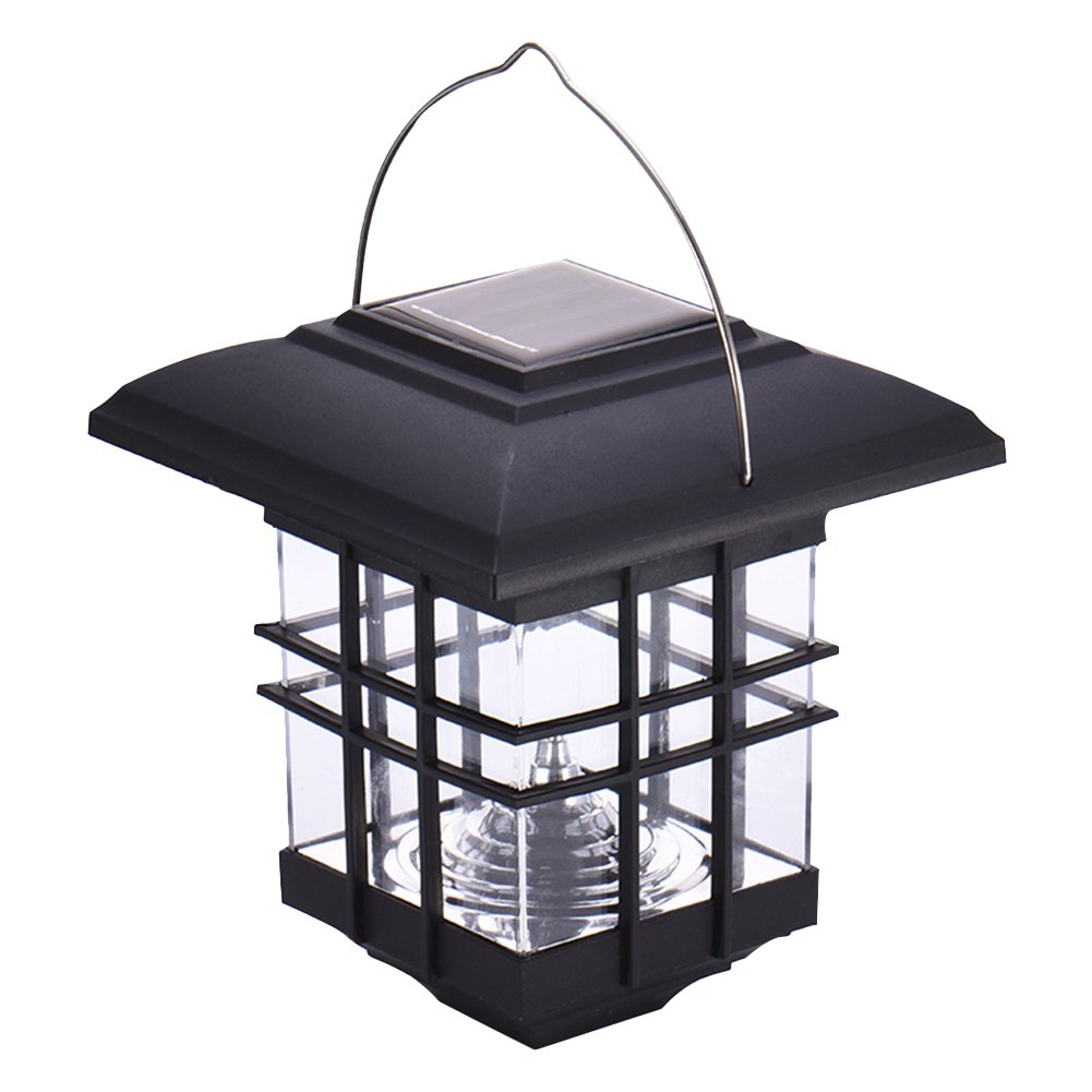 eronde Solar Portable Light House Shaped LED Solar Hanging Light Lamp for Garden Patio Yard Path