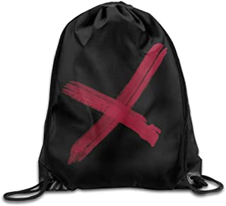 DHNKW School Drawstring Backpack Chris Brown X Logo Backpack