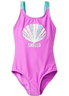 New Girl/'s Pink Print Cat /& Jack Two Piece Swimsuit Swimwear Size Medium 7//8