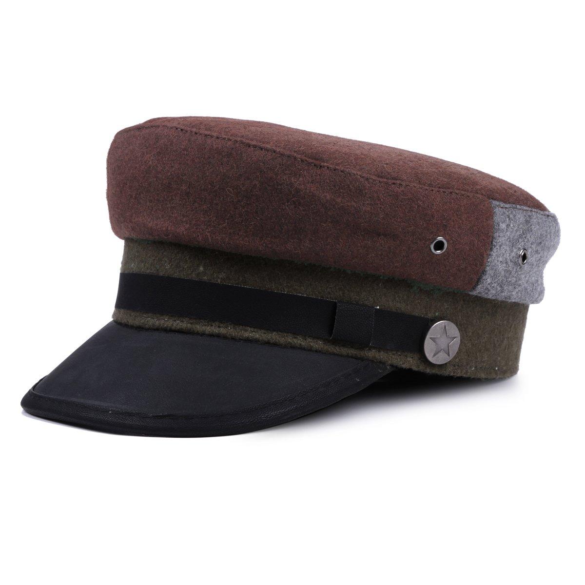 Damara Woolen Visor Newsboy Hats Beret Caps