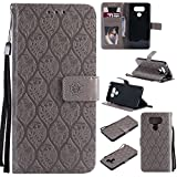 NEXCURIO LG G6 / G6+ (G6 Plus) Wallet Case with Card Holder Folding Kickstand Leather Case Flip Cover for LG G6 / LG G6+ - NEYYO10580 Grey