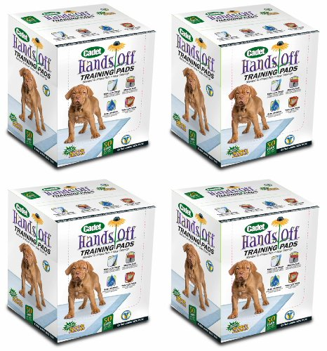 Cadet Hands Off X-Large Training Pads for Dogs 200ct (4 x 50ct)