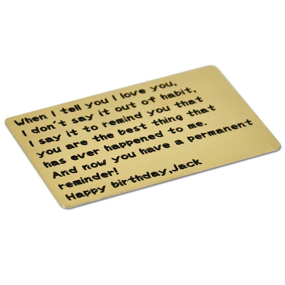 Amazon.com: Grabado cartera Insert Card, personalizado ...