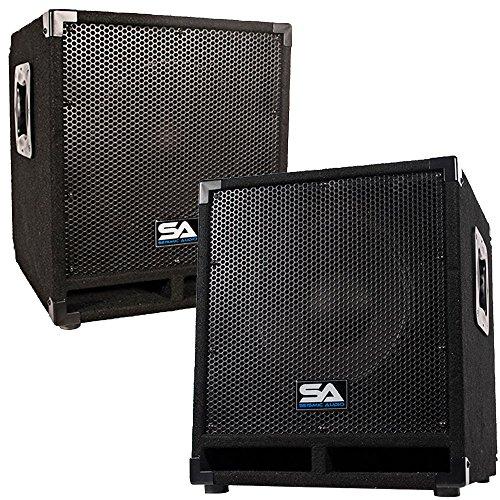Seismic Audio - Mini-Tremor Pair - Pair of Powered 12 Pro Au