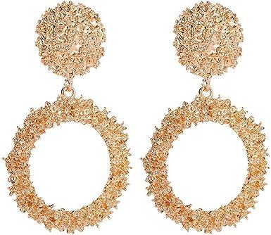Charm Geometric Tassel Pearl Crystal Womens Stud Earrings Dangle Drop Jewelry