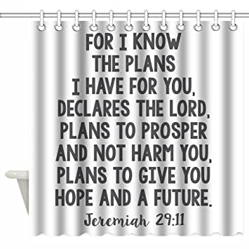 Luckcac 72 X Inch Shower Curtain Custom Bible Verse Scripture Quotes