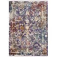 Safavieh Sutton Collection SUT403F Lavender and Ivory Runner (3 x 12)