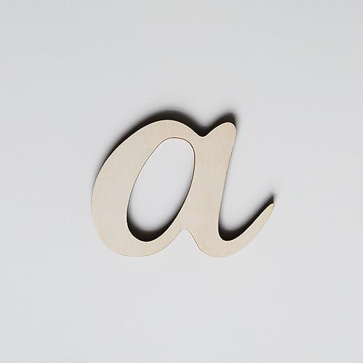 2 opinioni per ONEOFF TOYS A Corsivo Minuscolo bellissima lettera in legno di pioppo naturale