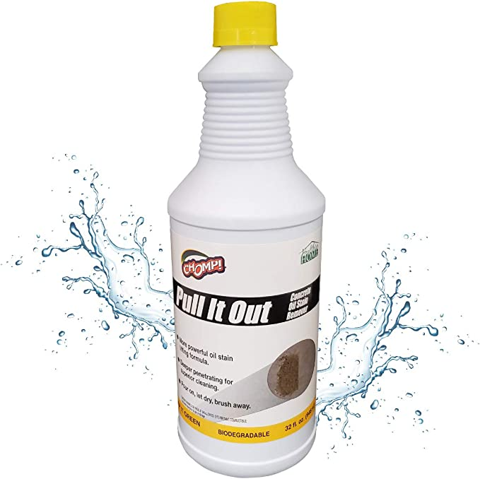 Amazon Com Chomp Pull It Out Oil Stain Remover For Concrete Grease Remover For Garage Floors Driveways Home Kitchen