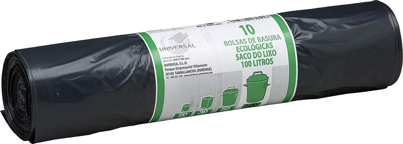 BOLSA BASURA 7051 100L 85X105CM NGR 10U: Amazon.es ...