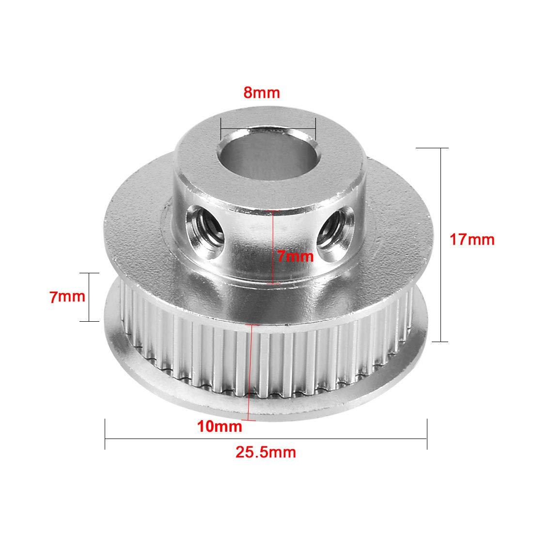 sourcingmap/® M3x 4mm Edelstahl Innensechskant Set GAP Point Grub Schrauben 50 de