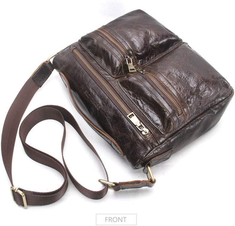 WUSHIYU Mens Messenger Bag Mens Leather Laptop Bag 11.2 Inch Multifuntional Business Computer Laptop CaseSatchel Tablet Bussiness Carrying Handbag for Women and Men Brown Satchel Shoulder Bag
