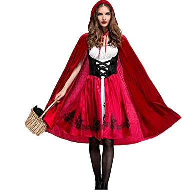 Lcxyyy Halloween Rotkappchen Kostume Damen Kostum Cosplay Karneval