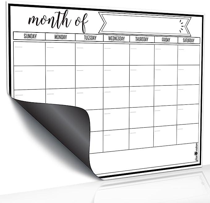 Rabbitgoo Dry Erase Monthly Calendar 2019-2020 Fridge Magnetic Whiteboard
